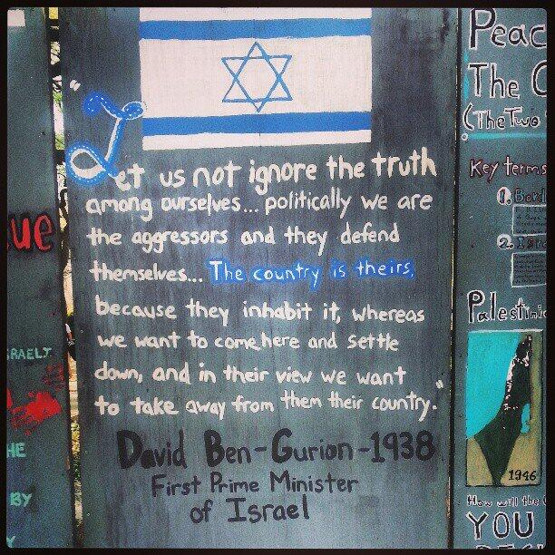 Ben-Gurion, Israel's first prime minister, on Palestine
