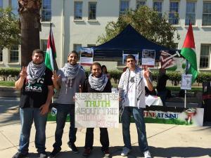 San Jose State University SJP tabling on campus CREDIT: Twitter