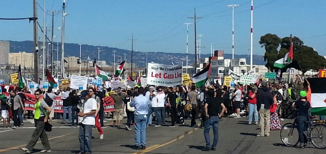 Block the Boat for Gaza on 16 August  CREDIT: Henry Norr