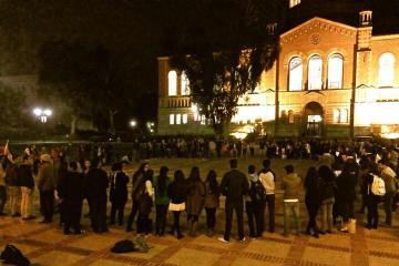 UCLA divest circle