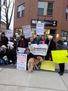 No Open House protesters in Boston, Massachusetts on 2 December   CREDIT: Facebook