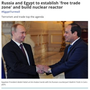 """Middle East Eye speaks of Putin as the """"Russian counterpart"""" of the brutal, blood-stained Egyptian dictator Sisi. Spot on."""