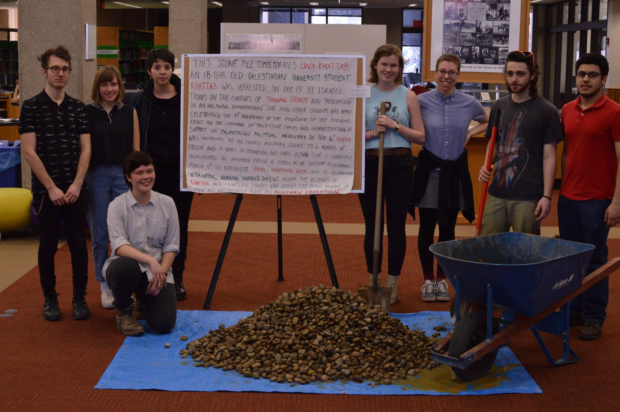 Oberlin Students Highlight Plight of Palestinian Political Prisoners with Week-Long Installation