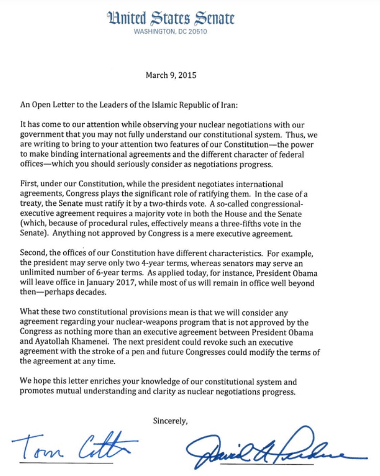 gop letter to iran