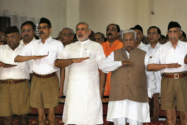 Indian Prime Minister Narendra Modi and the fascist RSS