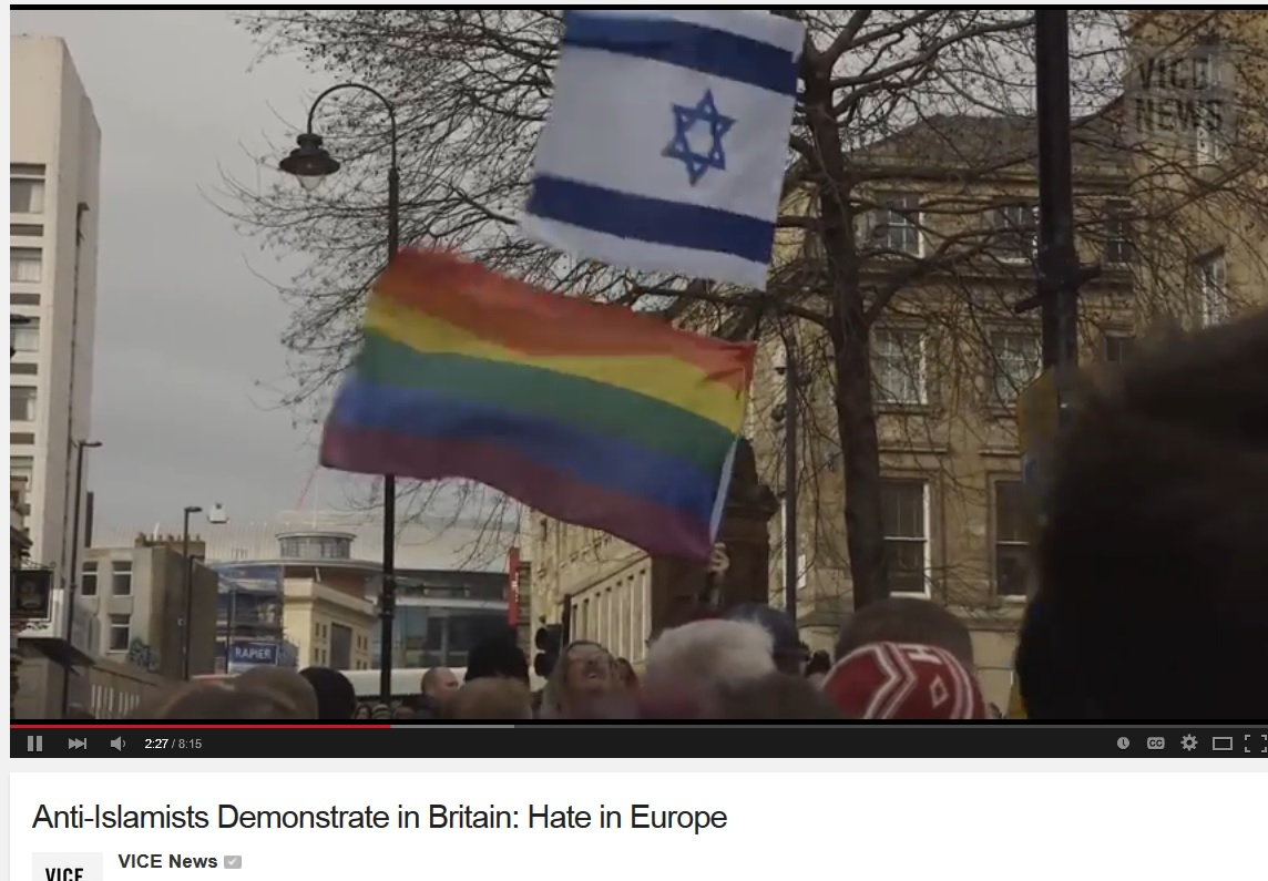 pegida uk vice israel flag 1