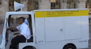 """A """"Schoenberg Soundways"""" truck in action"""
