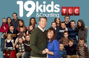 The 100% white Christian fundamentalist cast of TLC's program 19 Kids and Counting. Josh is on the left.