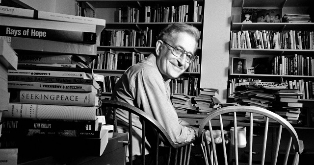 Noam Chomsky's Office Looks Exactly Like You Imagined It