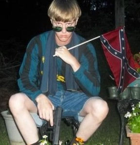 Neo-Nazi white supremacist Dylann Roof, in a photo he uploaded to his website