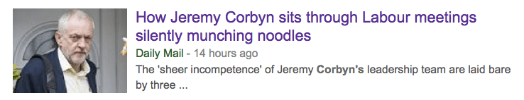 daily mail corbyn noodles