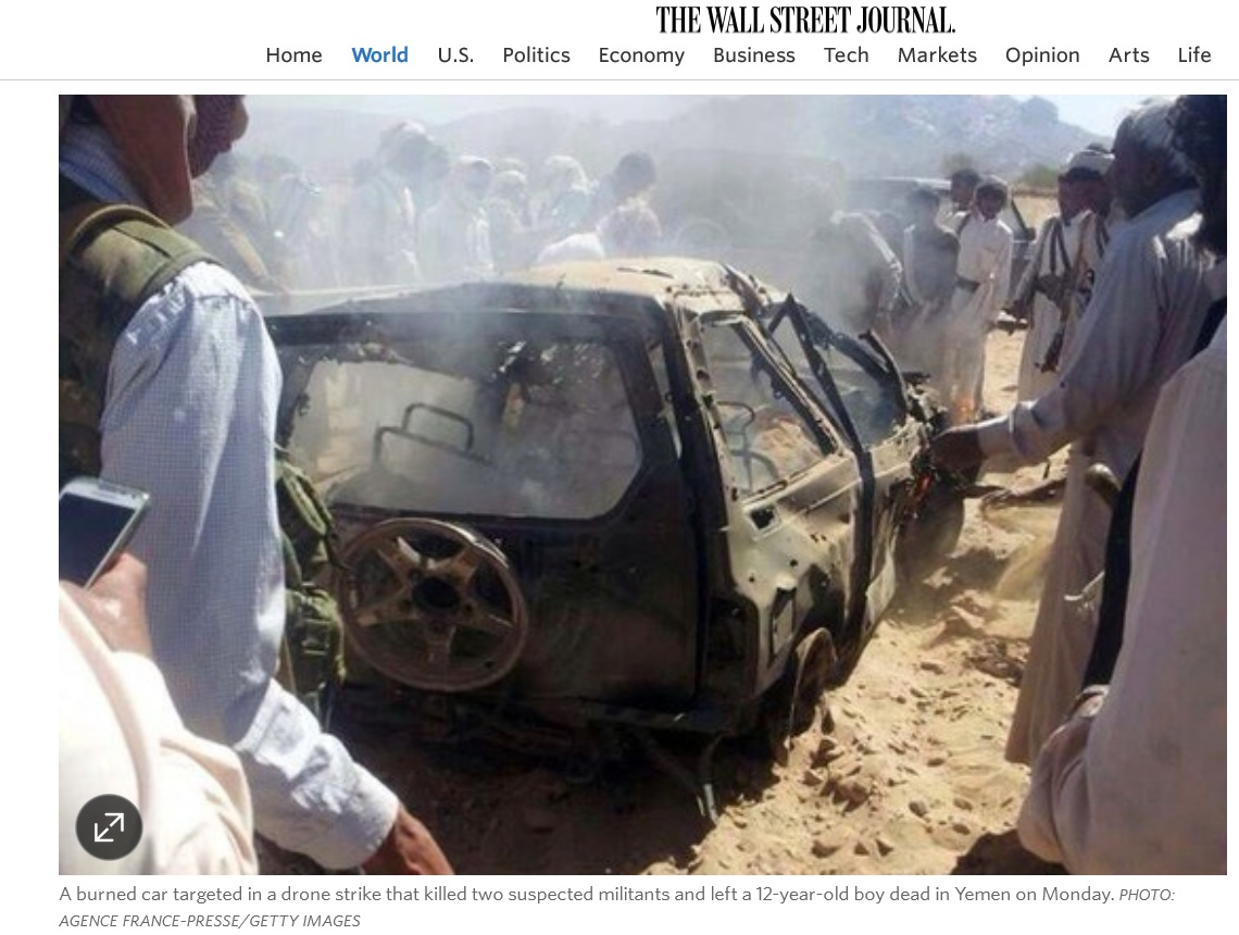 How the Media Covered Up Killing of 12-Year-Old in US Drone Strike