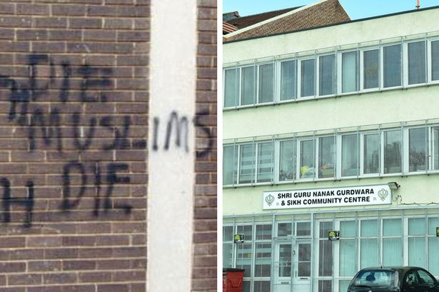 """Racists Spray Paint Anti-Muslim Graffiti on Sikh Temple, Spell """"to"""" Wrong"""