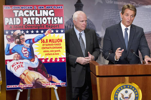 """Tackling paid patriotism"": Pentagon gave sports franchises millions of tax dollars to spread pro-military propaganda"
