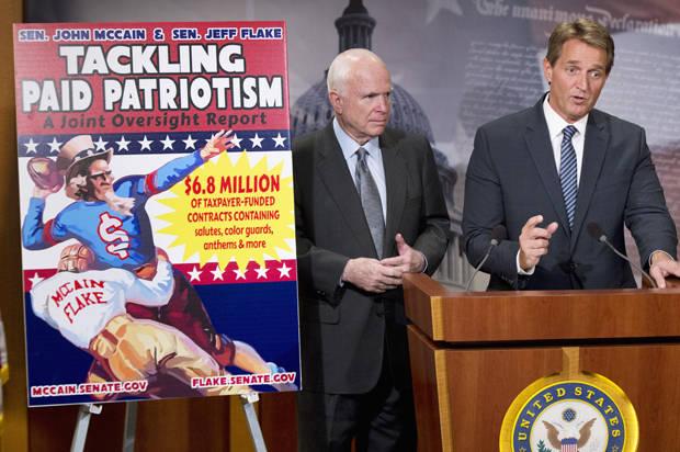 """Tackling paid patriotism"": Pentagon gave sports franchises millions of tax dollars to spread pro-military propaganda"