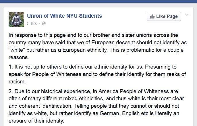 "White supremacist groups claim they ""provide a 'safe space' for white students"""