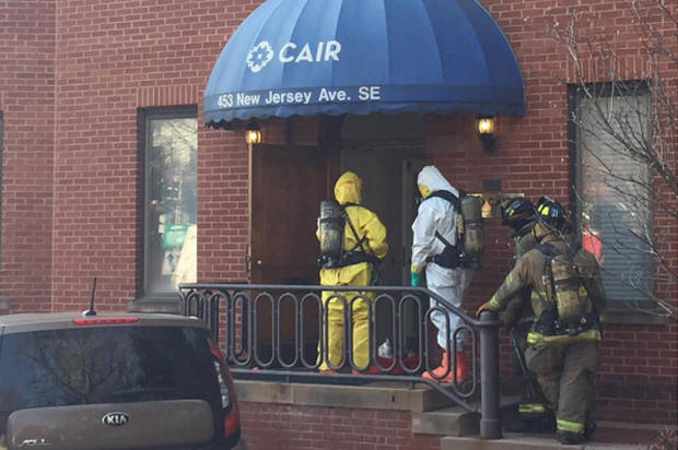 "Muslim civil rights group's DC office evacuated by police after receiving ""foreign substance"" in mail"