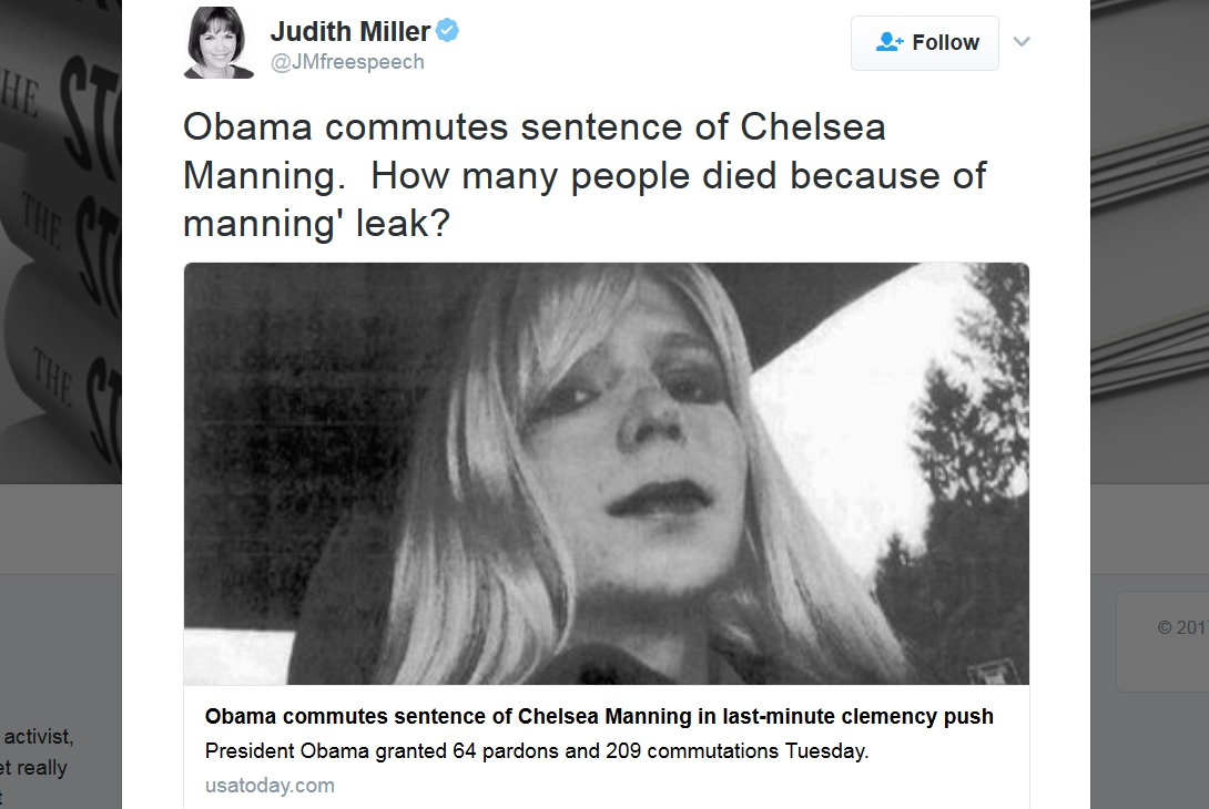 Judith Miller, journalist who spread WMD lies, implies Chelsea Manning's leak killed people (it didn't)