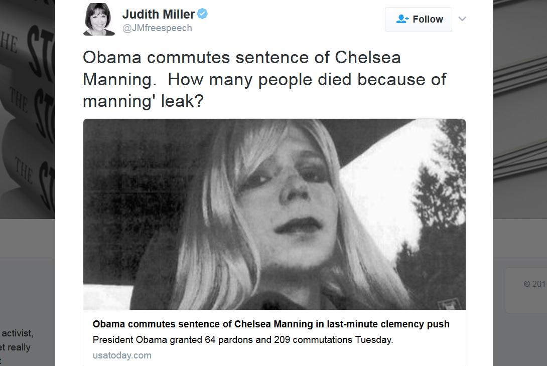 Judith Miller, journalist who spread WMD lies, implies Chelsea Manning's leak killed people (it didn't)