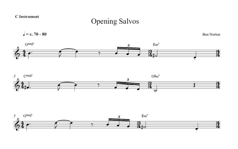 Opening Salvos