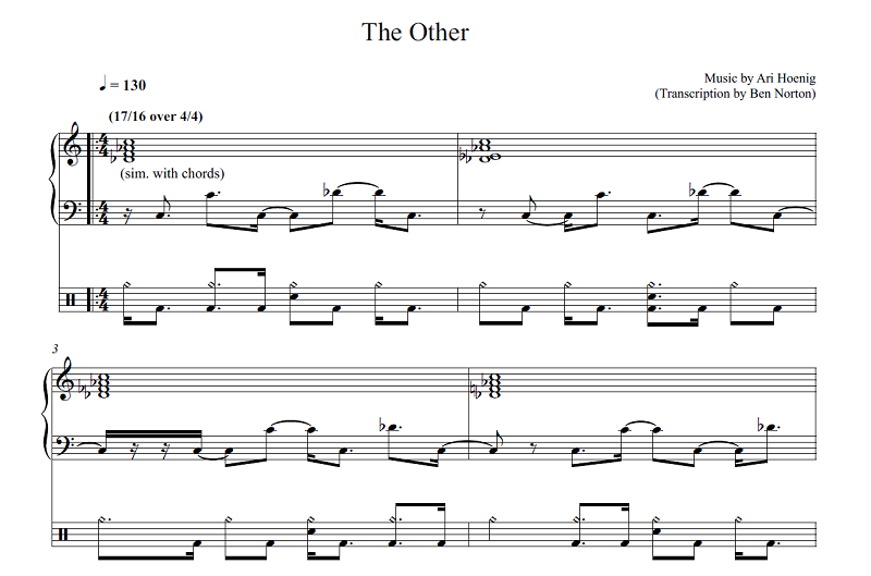 """Transcription: """"The Other"""" by Ari Hoenig"""