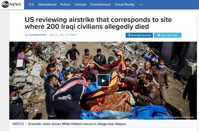 200 Iraqi Civilians Magically Die in Location Hit by U.S. Airstrike, Media Say
