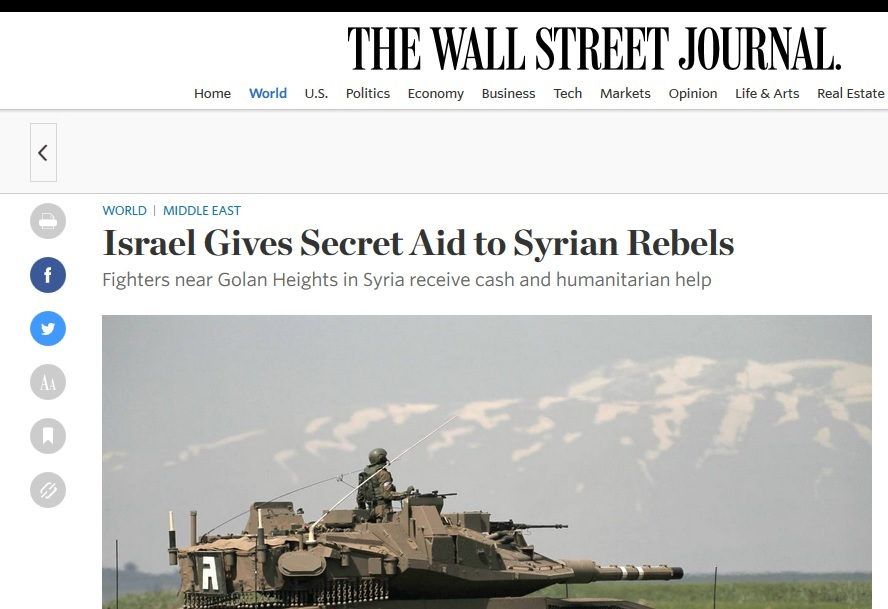 Israel supports Syrian rebels, like opposition shills who divided Palestine solidarity movement