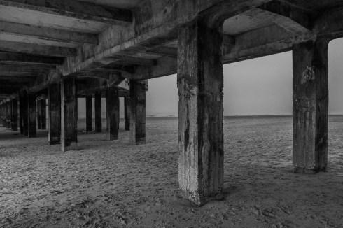Under the pier of Blankenberge