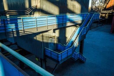 Blue railing II