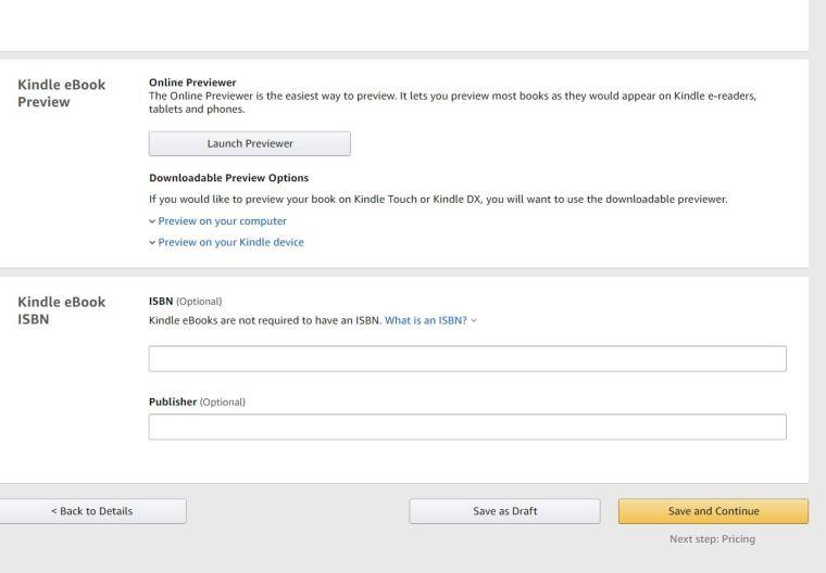 how to upload books on Amazon