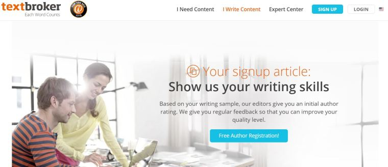 writing from home jobs