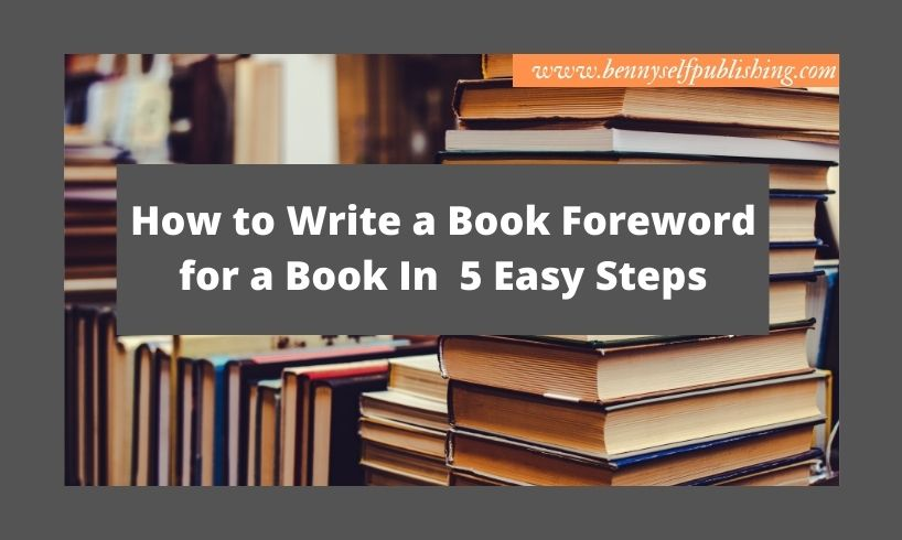 How to Write a Book Foreword