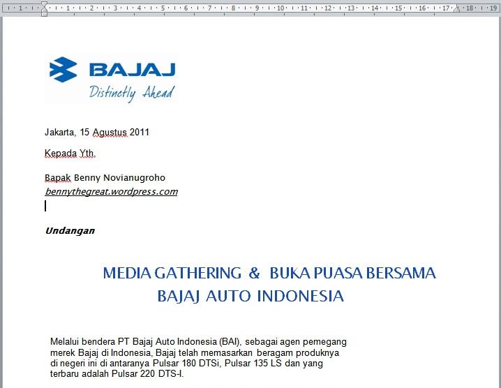 Bajaj Auto Indonesia Undang Blogger Berbuka Puasa Bersama