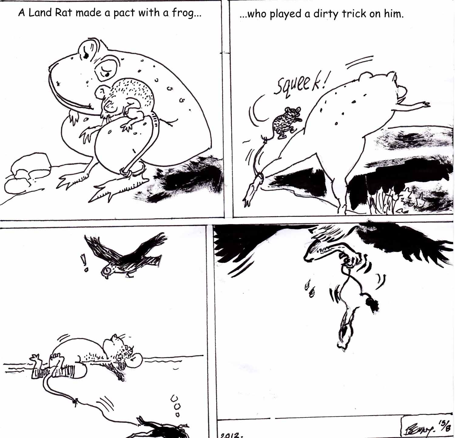 Aesop Fables In Comic Strip Format