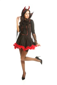 Lady in a devil costume