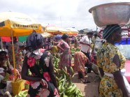 Beautiful Colors of the Market! This market is bustling with merchants/entrepreneurs, selling their crops.