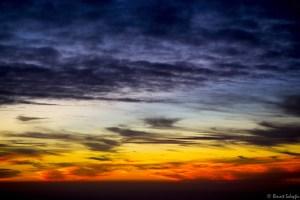 Coucher de Soleil dans l'avion, en toure pour Buenos Aires, Mon voyage en Argentine