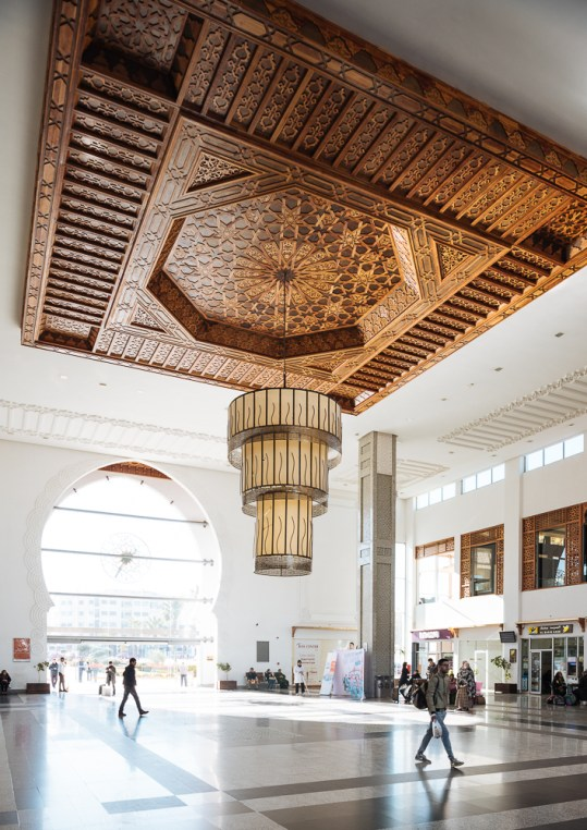 Interior of Fes Train Station, Fes, Morocco, North Africa