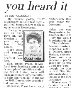 Clip of my 4/13/1987 column