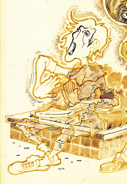 Vic Harville illustration, detail, 9-21-88