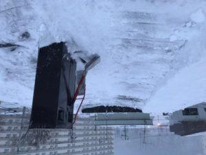 屋根雪 大量真駒内 作業完了