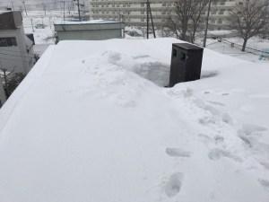屋根雪 大量 真駒内