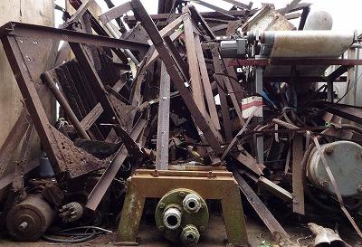 鉄くずの回収、土浦市