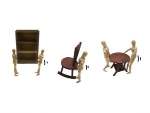 楽に大きな家具を移動するコツ