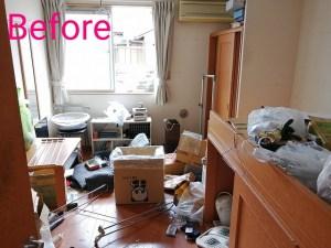 つくば市で引越後の部屋の残置物片づけ
