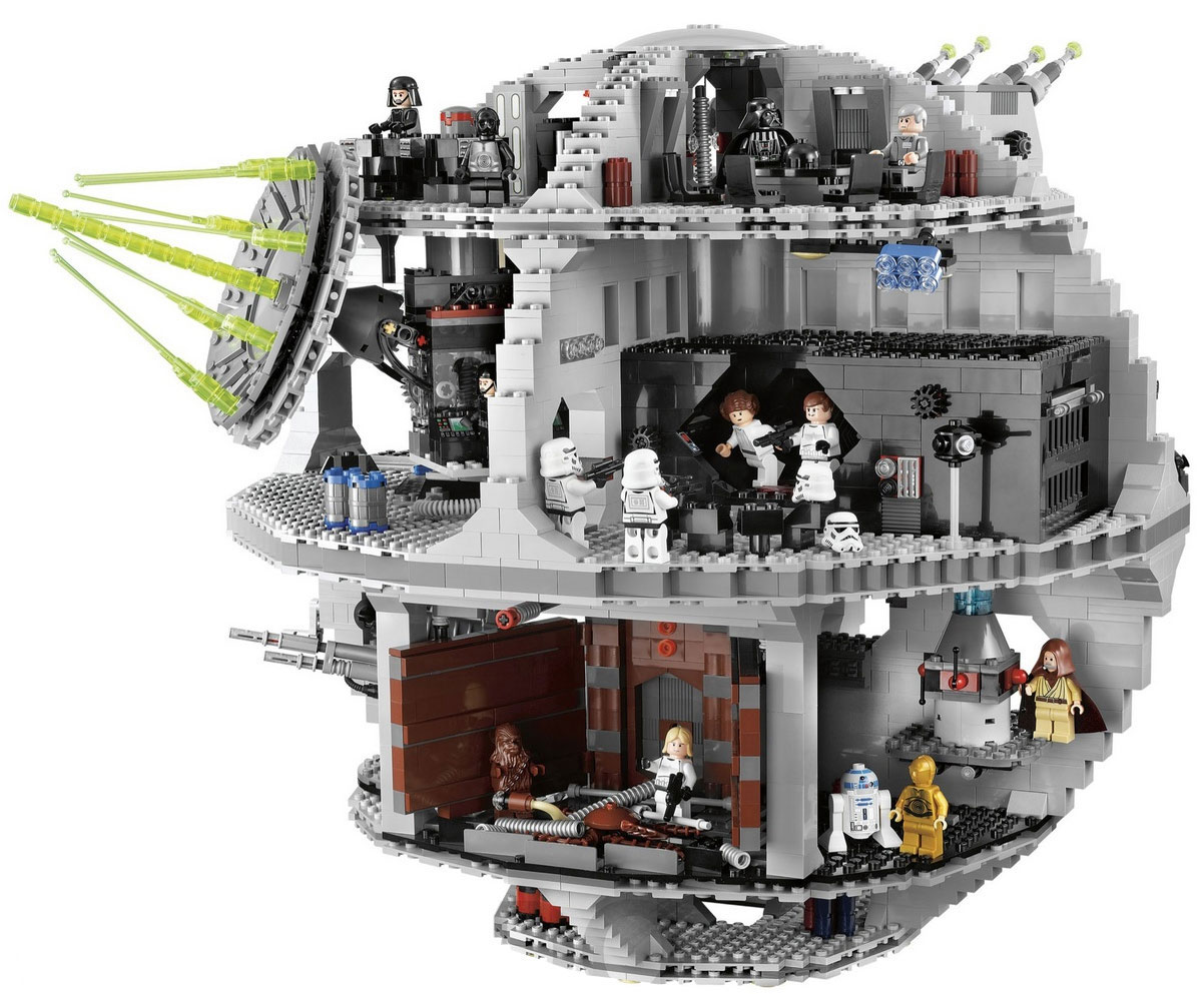 Image result for holding the death star lego set