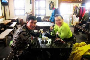 Yearly affair in 1000m hut, Hirafu. 8 years and counting.