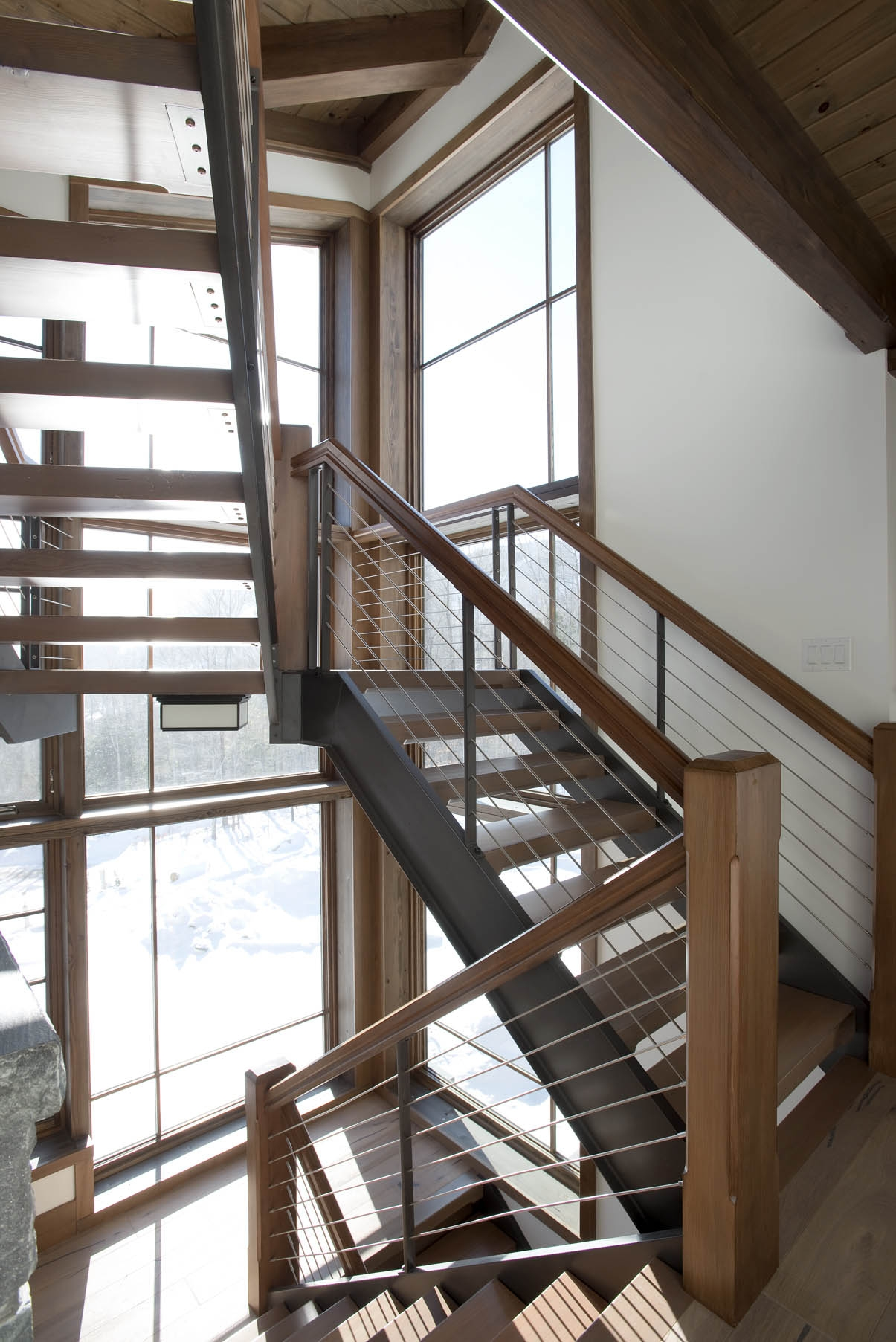 Style Guide For Stairs Bensonwood   Modern U Shaped Staircase   Design   Floating   Interior   Amazing Modern   Oval Shaped