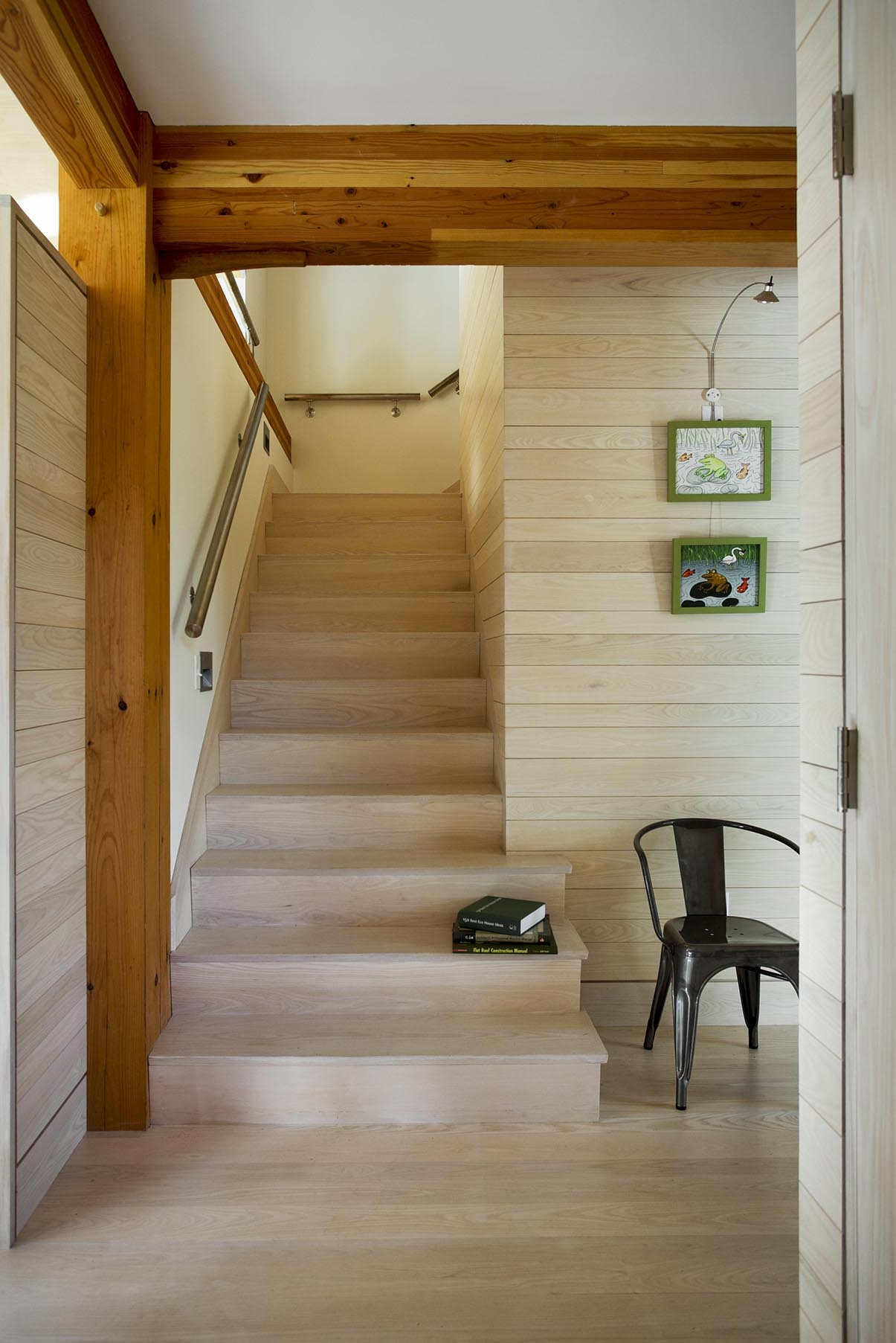 Style Guide For Stairs Bensonwood   Converting Spiral Staircase To Straight   Wood   House   Stair Case   U Shaped   Loft Conversion