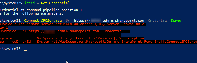PowerShell Error